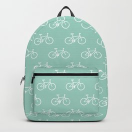 bicycles textured - teal Backpack