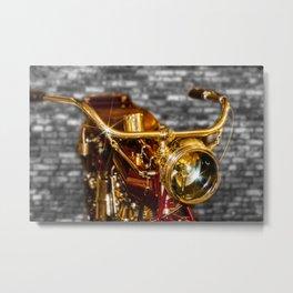 Old Motorcycle Metal Print