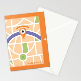 gps glance Stationery Cards