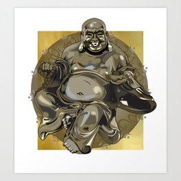 Laughing Buddha II Art Print