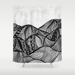 Lines in the mountains 06 Shower Curtain
