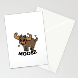 Just A Girl Who Loves Mooses Cute Moose Costume Stationery Cards