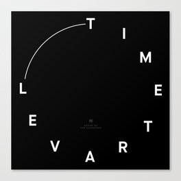 Timetravel Wall Clock Canvas Print