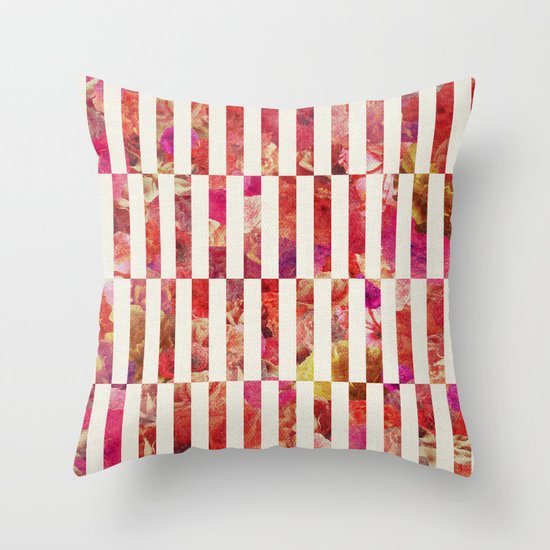 PINK FLORAL ORDER Throw Pillow