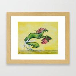 Hippocampus Sea Horse Framed Art Print