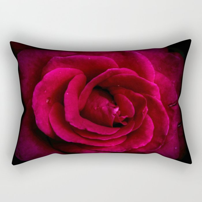 Texture Of A Rose Rectangular Pillow