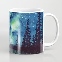 """Green Milky Way"" watercolor galaxy painting Coffee Mug"