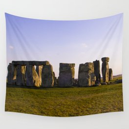 Evening at Stonehenge Wall Tapestry