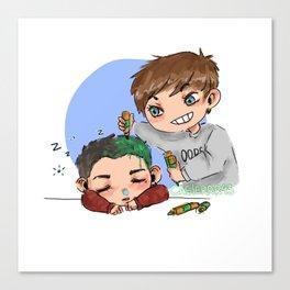 green hair dont care Canvas Print