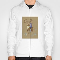 Deer and Girl Hoody