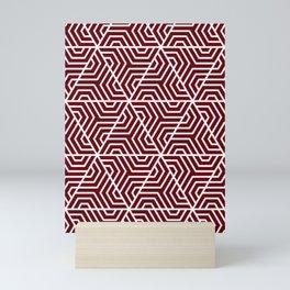 Rosewood - purple - Geometric Seamless Triangles Pattern Mini Art Print