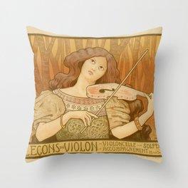 Violon lesson Throw Pillow