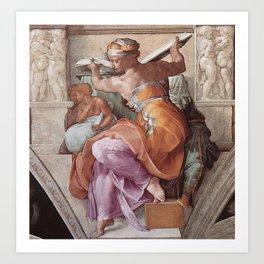The Libyan Sybil Sistine Chapel Ceiling by Michelangelo Art Print