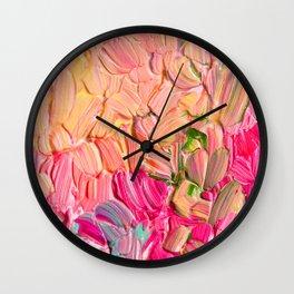 Rose Sorbet Wall Clock
