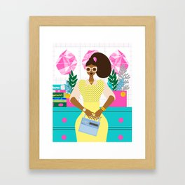 Virgo Zodiac Framed Art Print