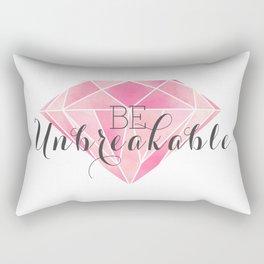 Be Unbreakable (Pink Diamond) Rectangular Pillow