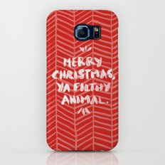 Merry Christmas, Ya Filthy Animal – Red Galaxy S6 Slim Case