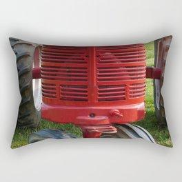 Red Farmall Tractor Rectangular Pillow