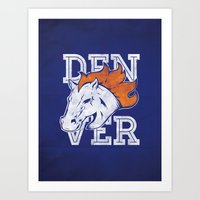 denver Art Prints featuring Denver by d.bjorn