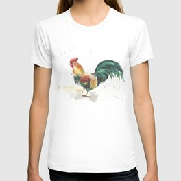 Symbol of the year, watercolor rooster, cock, cockerel T-shirt