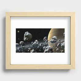 Within Saturn's Rings Recessed Framed Print