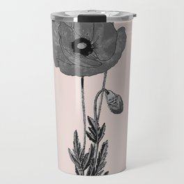 One flower one love in pink Travel Mug