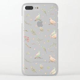 Simple bird pattern Clear iPhone Case