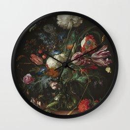 Jan Davidsz de Heem - Vase of Flowers (c.1660) Wall Clock