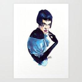 Retro Girl Art Print