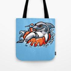 summer pool shark Tote Bag