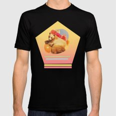 in the warm july sun Black MEDIUM Mens Fitted Tee