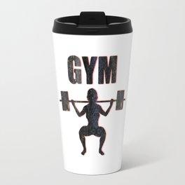Gym Female Weightlifter Travel Mug