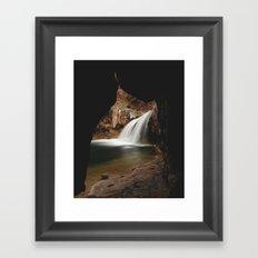 Fossil Creek Cave Framed Art Print