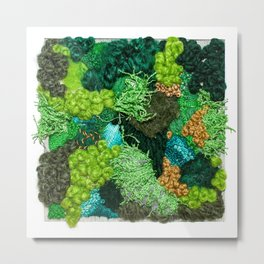 Moss Patch Metal Print