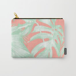 Island Love Coral Pink + Light Green Carry-All Pouch
