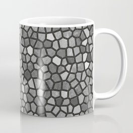 Faux Stone Mosaic in Darker Grays Coffee Mug
