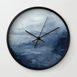 Indigo Abstract Painting | No.2 Wall Clock