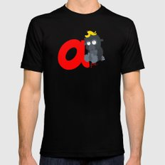 a for ape Black Mens Fitted Tee MEDIUM
