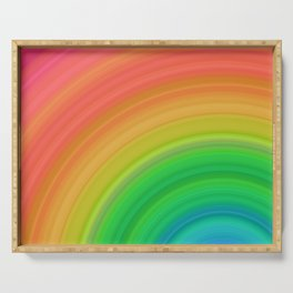Bright Rainbow | Abstract gradient pattern Serving Tray