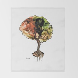 A Tree of Life Throw Blanket
