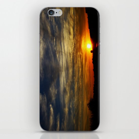 Colorful sunset iPhone & iPod Skin