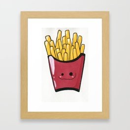 French Fries Cutie Framed Art Print