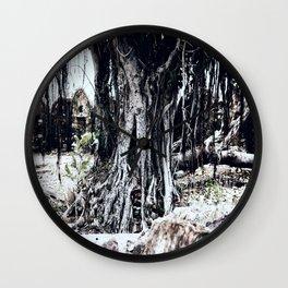 Tree Faces Wall Clock