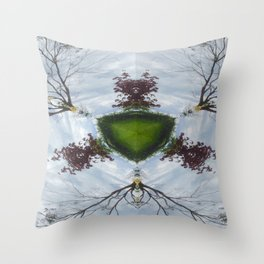 Tree Shield Throw Pillow