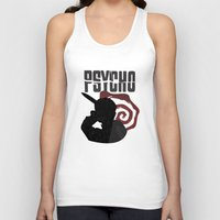 psycho Tank Tops featuring Psycho by Vickn
