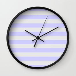 Lavender & Gray Stripes Wall Clock
