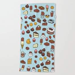 Chocolate Treats Beach Towel