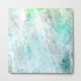Mint Green Abstract Metal Print