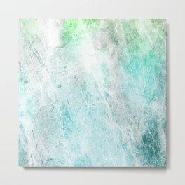 Mint Green Abstract Metal Print