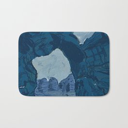 Blue Rock Bridge Bath Mat